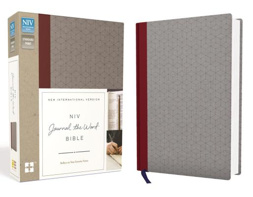 NIV, Journal the Word Bible, Cloth Over Board, Red/Gray: Reflect on Your Favorite Verses Cover Image