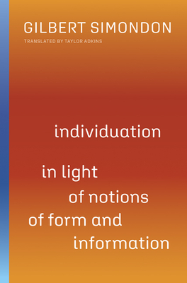 Individuation in Light of Notions of Form and Information (Posthumanities #1) Cover Image