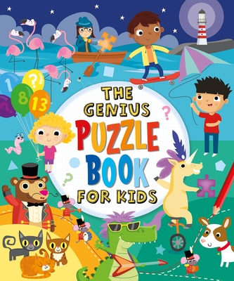 The Genius Puzzle Book for Kids Cover Image