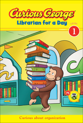 Curious George: Librarian for a Day (Curious George: Level 1) Cover Image
