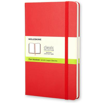 Moleskine Classic Notebook, Pocket, Plain, Red, Hard Cover (3.5 x 5.5) (Classic Notebooks) Cover Image