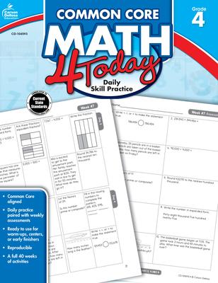Common Core Math 4 Today, Grade 4 (Common Core 4 Today) Cover Image