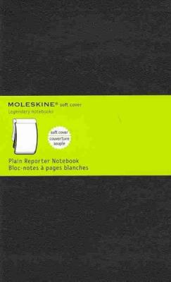 Moleskine Reporter Notebook, Large, Plain, Black, Soft Cover (5 x 8.25) (Reporter Notebooks) Cover Image