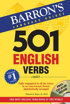501 English Verbs with CD-ROM (Barron's 501 Verbs) Cover Image