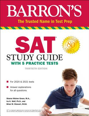 SAT Study Guide with 5 Practice Tests (Barron's Test Prep) Cover Image
