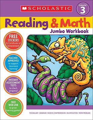 Reading & Math Jumbo Workbook: Grade 3 Cover Image