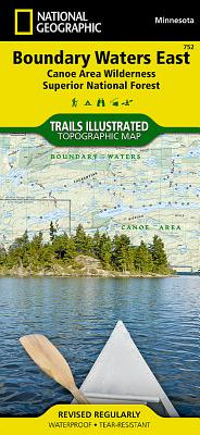 Boundary Waters East [Canoe Area Wilderness, Superior National Forest] (National Geographic Trails Illustrated Map #752) Cover Image