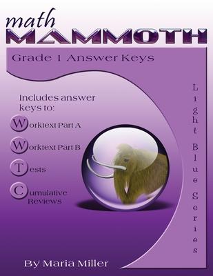 Math Mammoth Grade 1 Answer Keys Cover Image