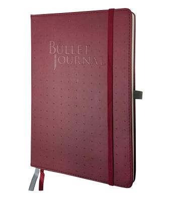 Bullet Journal - Burgundy Cover Image