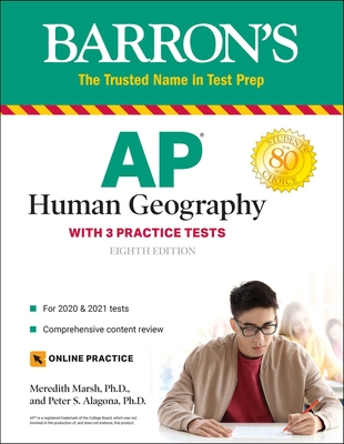AP Human Geography: with 3 Practice Tests (Barron's Test Prep) Cover Image