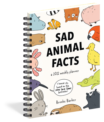 Cover for Sad Animal Facts Weekly Planner 2022
