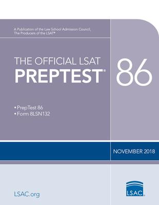 The Official LSAT Preptest 86: (nov. 2018 Lsat) Cover Image