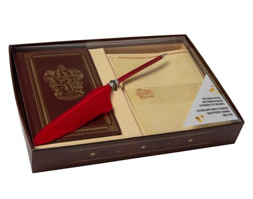 Harry Potter: Gryffindor Desktop Stationery Set (With Pen) Cover Image