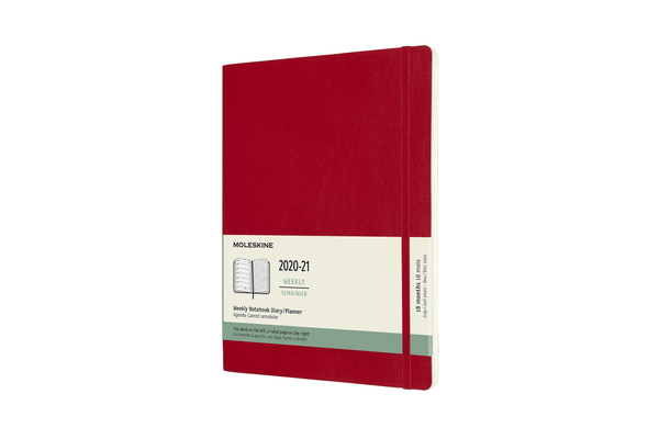 Moleskine 2020-21 Weekly Planner, 18M, Extra Large, Scarlet Red, Soft Cover (7.5 x 9.75) Cover Image