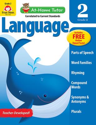 At Home Tutor Language, Grade 2 (At-Home Tutor) Cover Image