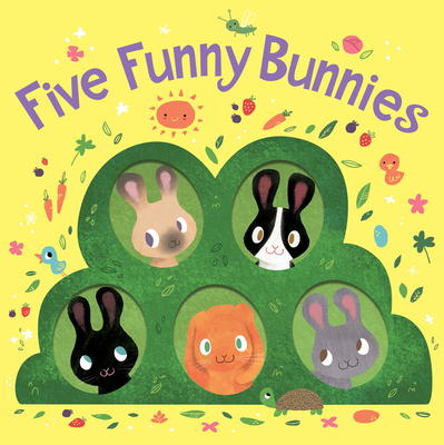 Five Funny Bunnies (board book) Cover Image