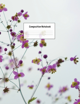 Composition Notebook: Wide Ruled Lined Paper: Large Size 8.5x11 Inches, 110 pages. Notebook Journal: Pink Nature Flowers Workbook for Presch Cover Image