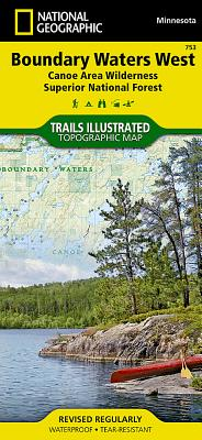 Boundary Waters West [Canoe Area Wilderness, Superior National Forest] (National Geographic Trails Illustrated Map #753) Cover Image