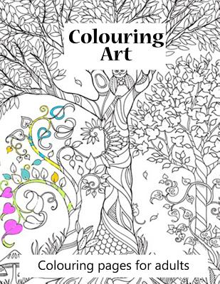 Colouring Pages for Adults Colouring Art: Colouring Art Book for Adults. 100 Pages of Beautiful Pictures to Colour from Ranging Animals to to Complex Cover Image