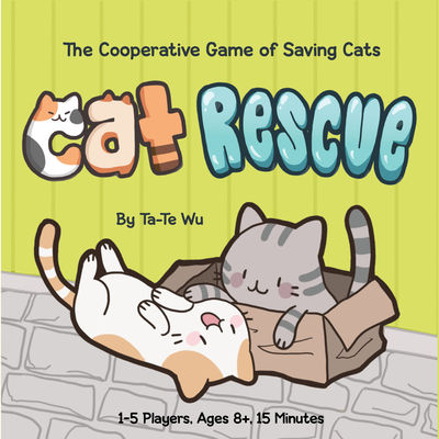 Cat Rescue: (Fun Family Card Game for Cat Lovers, Quick and Easy Kitty Color-Matching Game for All Ages) Cover Image