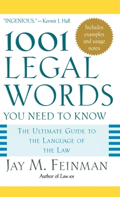 1001 Legal Words You Need to Know (1001 Words You Need to Know) Cover Image