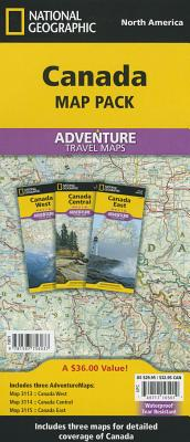 Canada [map Pack Bundle] (National Geographic Adventure Map) Cover Image