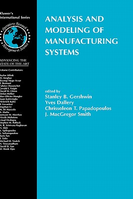 Analysis and Modeling of Manufacturing Systems Cover Image