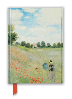 Claude Monet: Wild Poppies, near Argenteuil (Foiled Journal) (Flame Tree Notebooks) Cover Image
