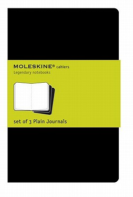 Moleskine Cahier Journal (Set of 3), Extra Large, Plain, Black, Soft Cover (7.5 x 10) (Cahier Journals) Cover Image