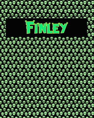 120 Page Handwriting Practice Book with Green Alien Cover Finley: Primary Grades Handwriting Book Cover Image
