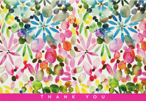 Watercolor Garden Thank You Notes Cover Image