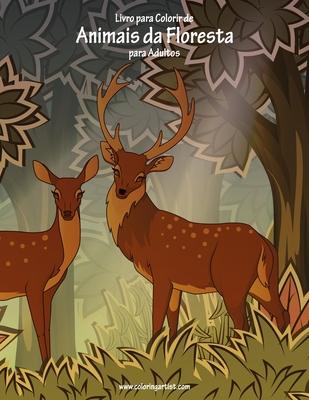 Livro para Colorir de Animais da Floresta para Adultos Cover Image