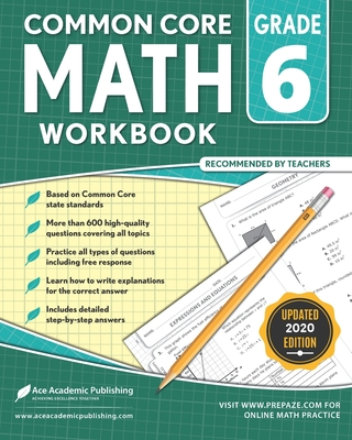 6th grade Math Workbook: CommonCore Math Workbook Cover Image
