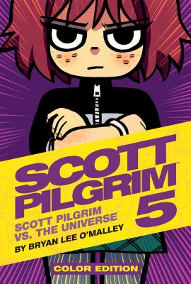 Kim Pine, arms crossed, scowling at you on the cover of Scott Pigrim Volume 5, Hardcover edition