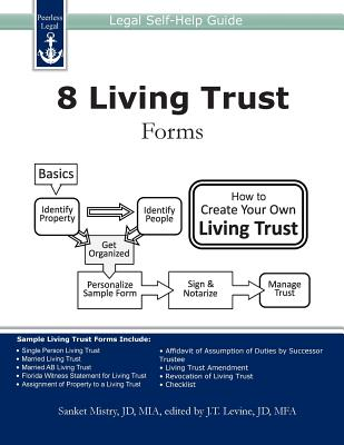 8 Living Trust Forms: Legal Self-Help Guide Cover Image