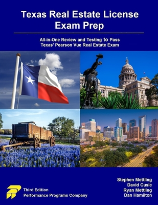 Texas Real Estate License Exam Prep: All-in-One Review and Testing to Pass Texas' Pearson Vue Real Estate Exam Cover Image
