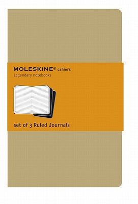 Moleskine Cahier Journal (Set of 3), Extra Large, Ruled, Kraft Brown, Soft Cover (7.5 x 10) (Cahier Journals) Cover Image