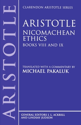 Nicomachean Ethics: Books VIII and IX Cover Image