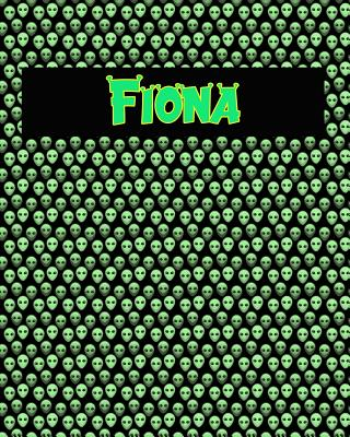 120 Page Handwriting Practice Book with Green Alien Cover Fiona: Primary Grades Handwriting Book Cover Image
