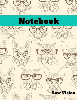 Low Vision Notebook: Bold Line White Paper For Low Vision, Visually Impaired, Great for Students, Work, Writers, School, Note taking 8.5x 1 Cover Image
