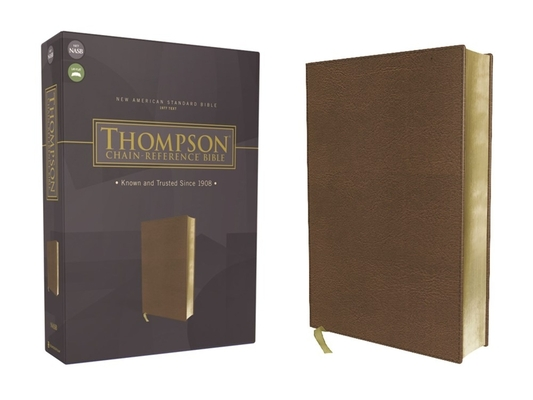Nasb, Thompson Chain-Reference Bible, Leathersoft, Brown, Red Letter, 1977 Text Cover Image