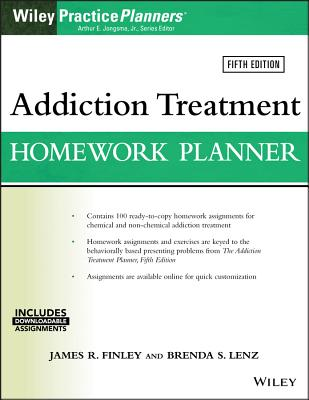 Addiction Treatment Homework Planner (PracticePlanners) Cover Image