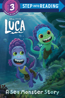 Cover for A Sea Monster Story (Disney/Pixar Luca) (Step into Reading)