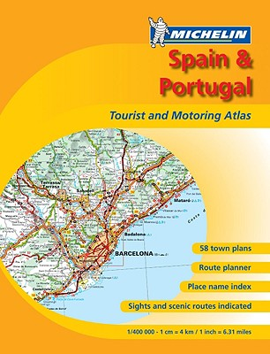 Michelin Spain & Portugal Tourist and Motoring Atlas Cover