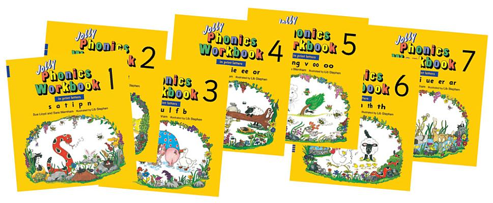 Jolly Phonics Workbooks 1-7 Cover Image