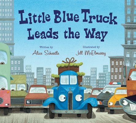 Little Blue Truck Leads the Way board book Cover Image
