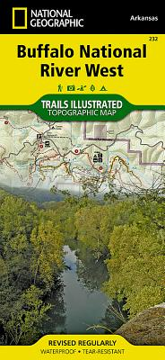 Buffalo National River West (National Geographic Trails Illustrated Map #232) Cover Image