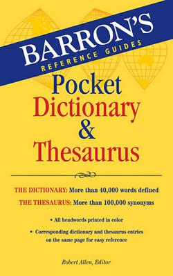 Pocket Dictionary & Thesaurus Cover Image