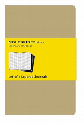 Moleskine Cahier Journal (Set of 3), Extra Large, Squared, Kraft Brown, Soft Cover (7.5 x 10) (Cahier Journals) Cover Image