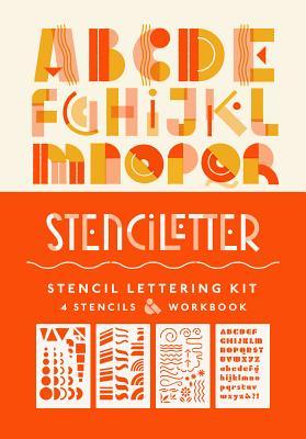 Stenciletter: Stencil Lettering Kit Cover Image
